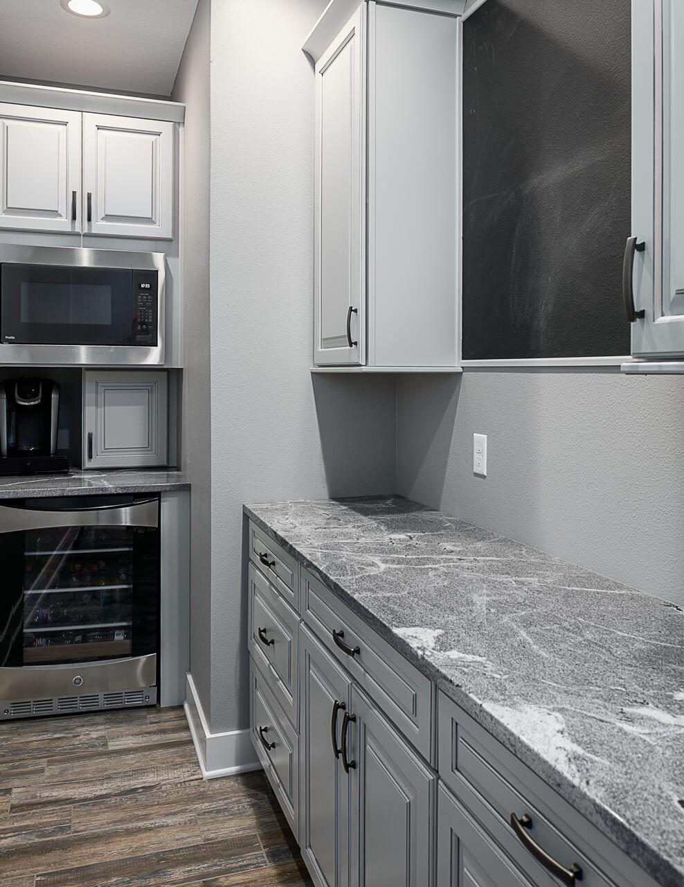 Hidden pantry in this remodeled kitchen