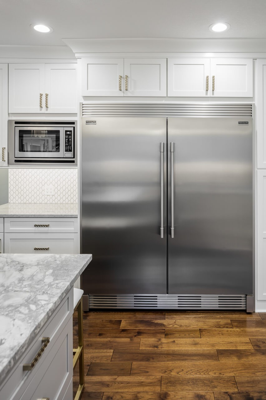 New appliances in this fresh remodel