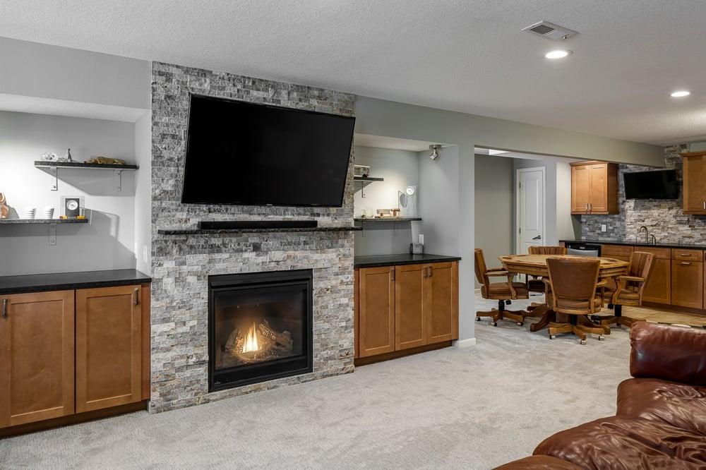 Warm basement remodel