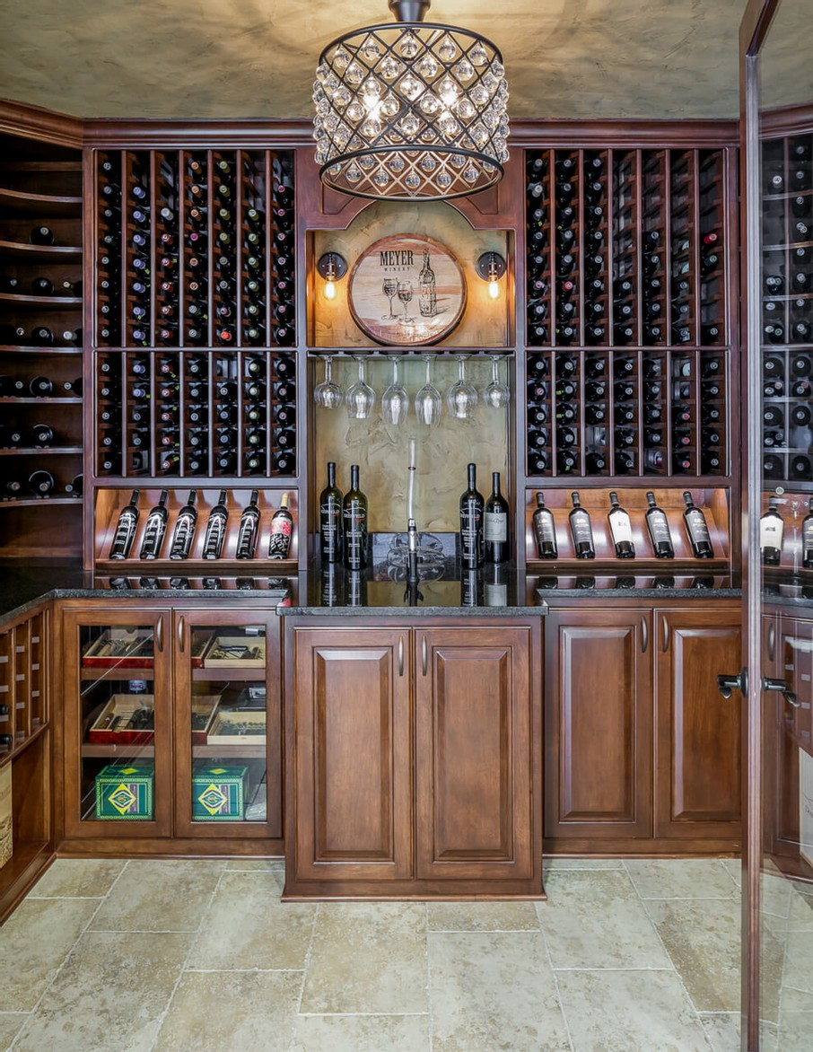 Custom built wine cellar