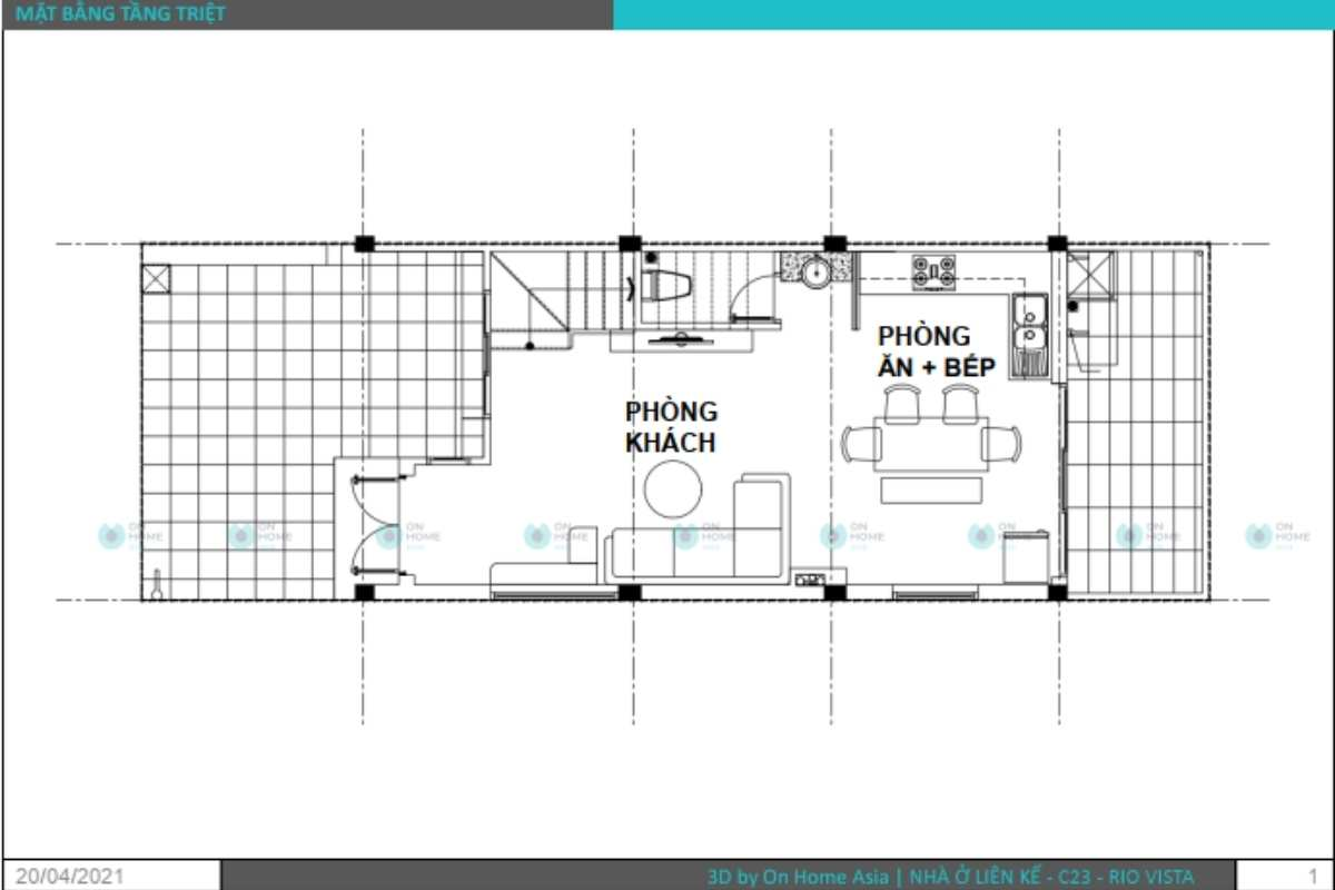 Bản vẽ thiết kế nội thất nhà phố 3 tầng