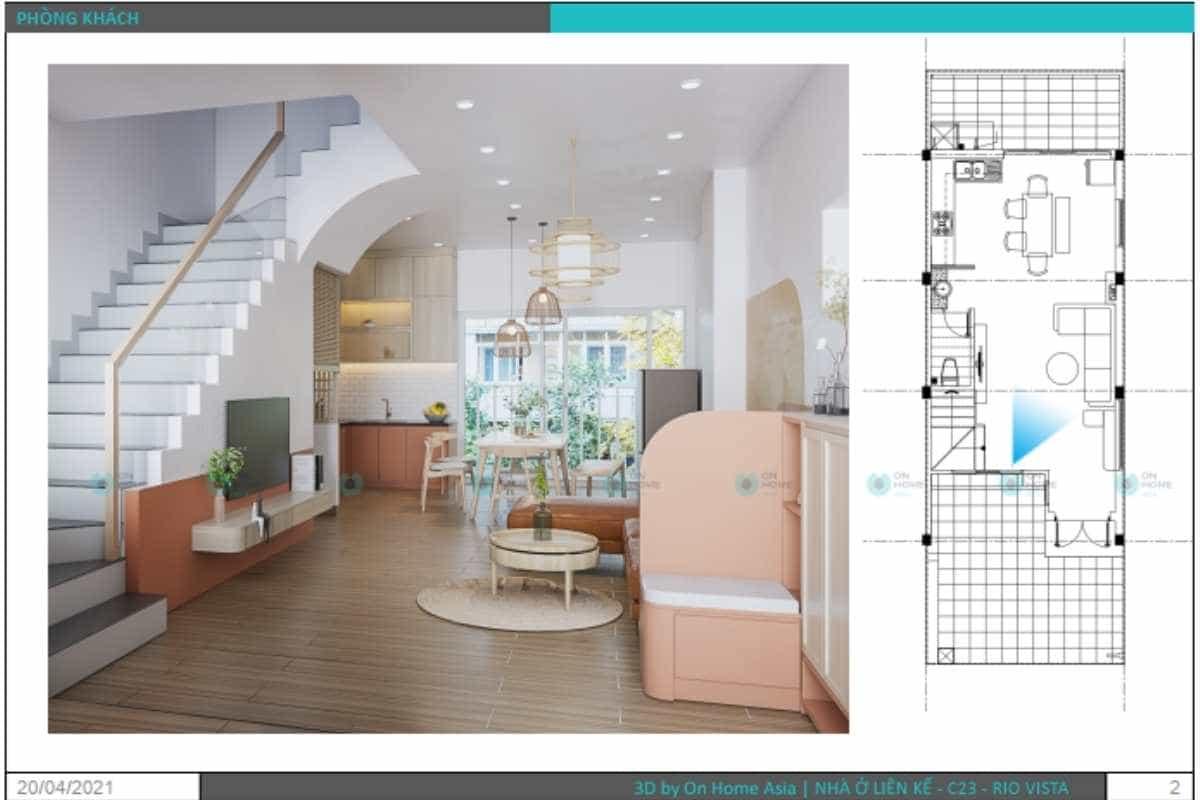 ban-ve-thiet-ke-noi-that-nha-pho-mau-2 (5)Phối cảnh thiết kế nội thất nhà phố 3 tầng phòng khách