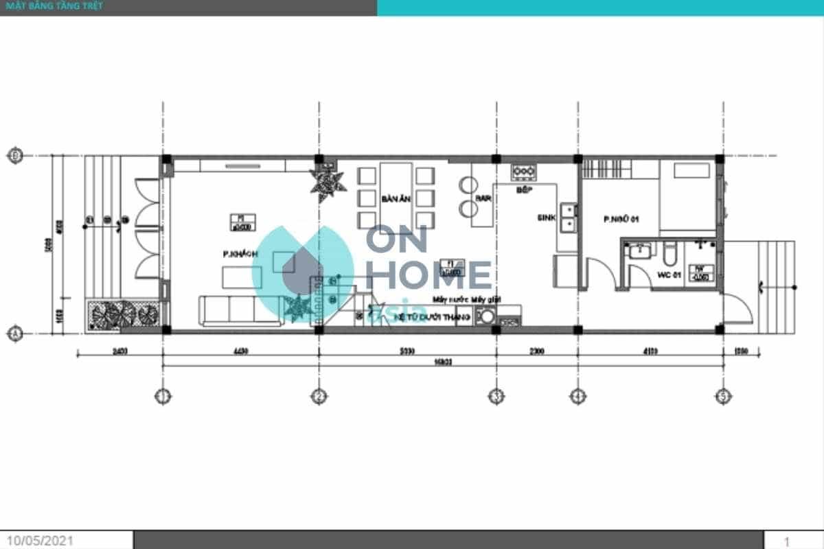 Bản vẽ thiết kế nội thất nhà phố nhỏ