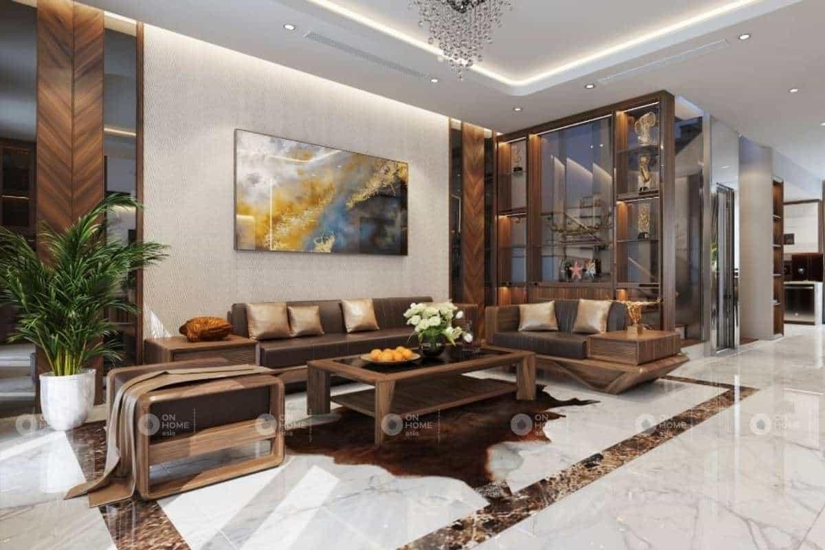 Cách kê bàn ghế gỗ phòng khách quyết định đến chất lượng thẩm mỹ của ngôi nhà