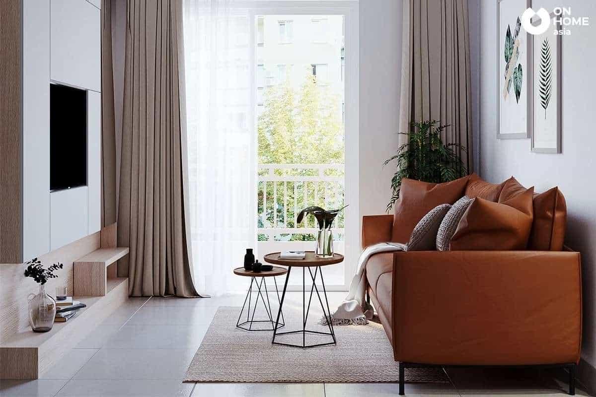 Kiến trúc phòng khách hiện đại và đơn giản