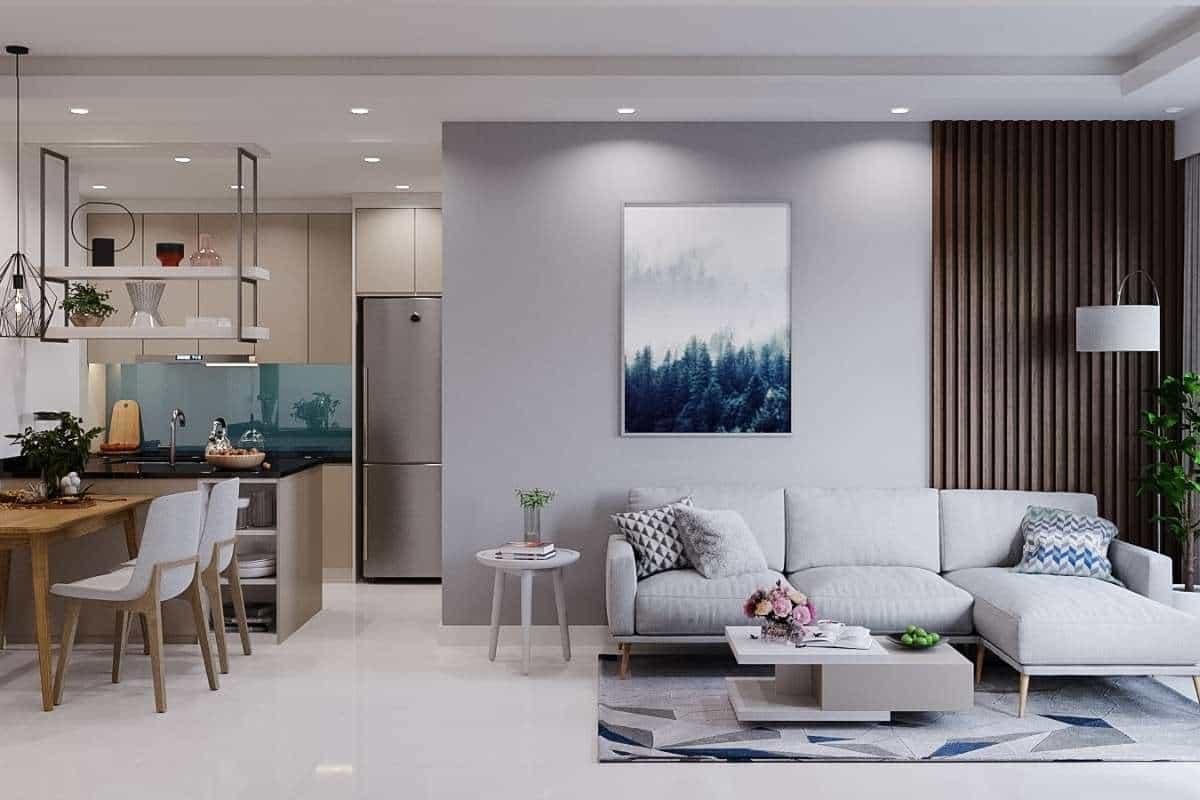 Kiến trúc phòng khách đơn giản mà đẹp