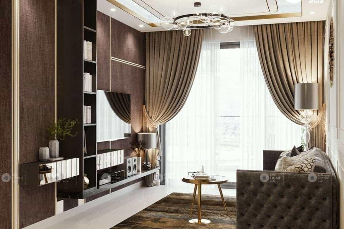 Hình khối xuất hiện khá khổ biên trong kiến trúc phòng khách đẹp