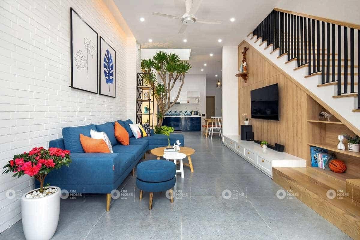 lưu ý khi thiết kế nội thất nhà phố nên chọn nội thất trước khi chọn màu sơn tường