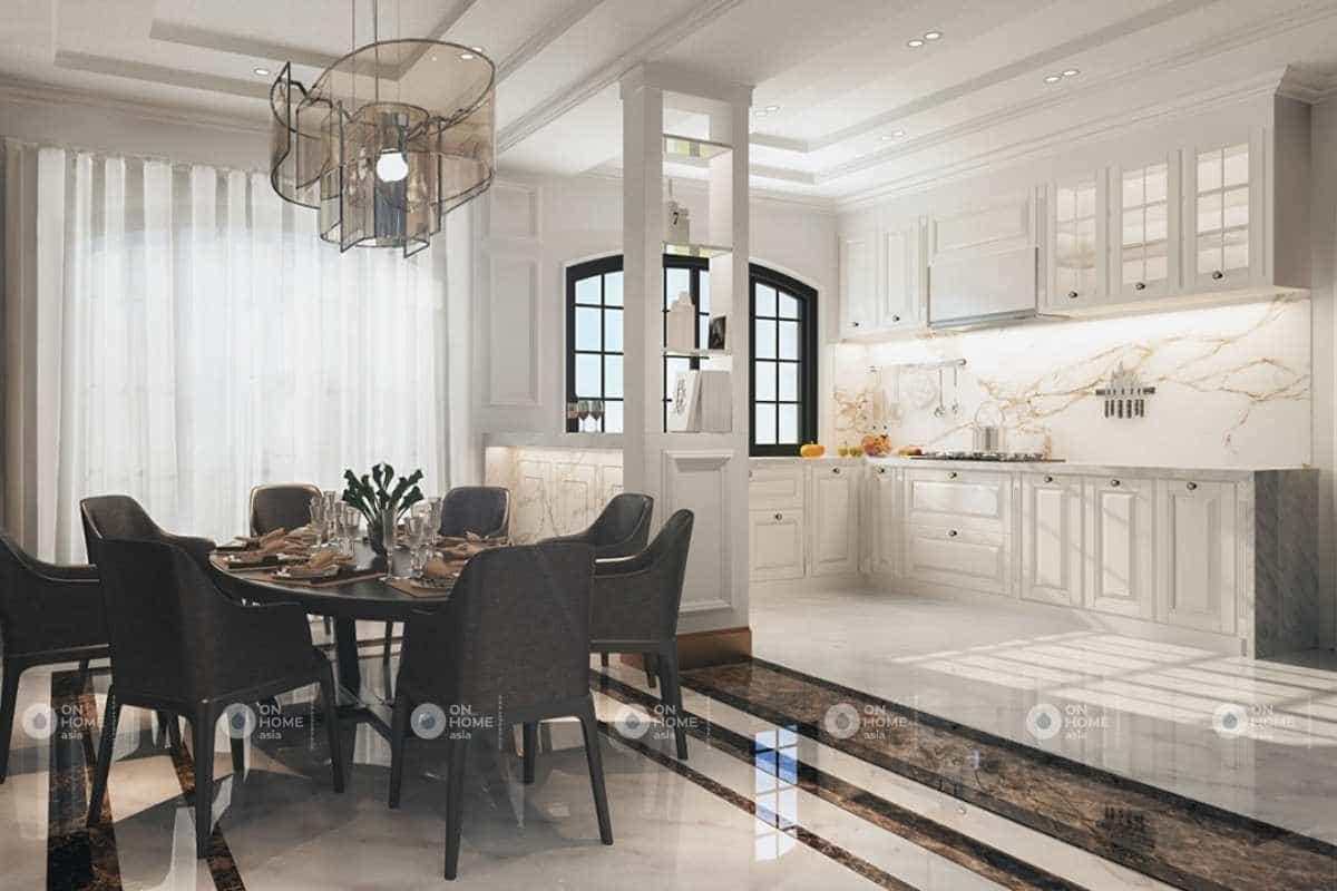 Lựa chọn các vật liệu bắt sáng tốt trong thiết kế nội thất nhà phố