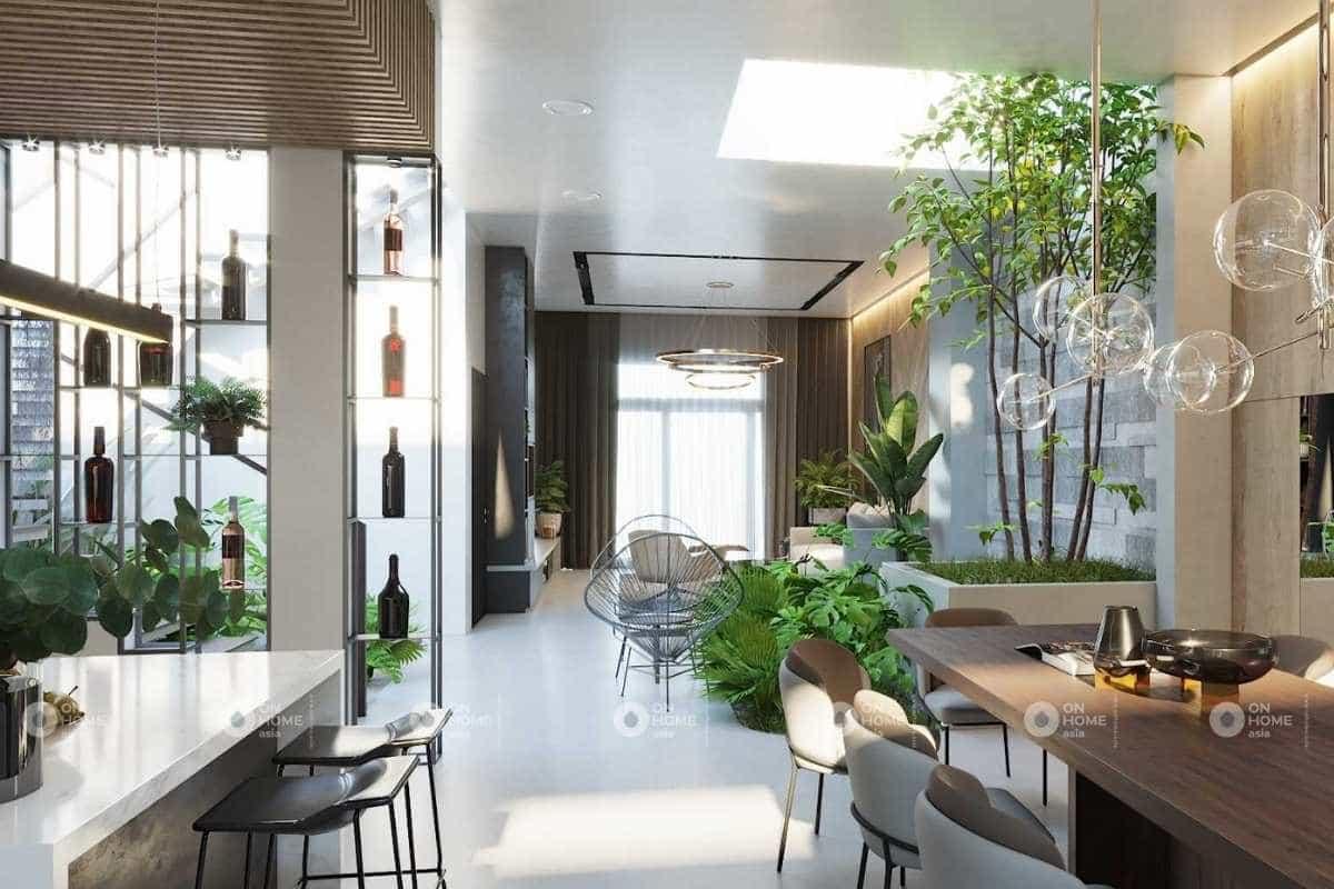 Tận dụng ánh sáng tự nhiên trong thiết kế nội thất nhà phố