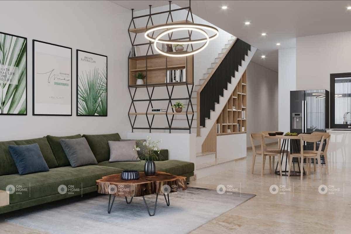lưu ý khi thiết kế nội thất nhà phố không chọn quá nhiều gam màu trung tính
