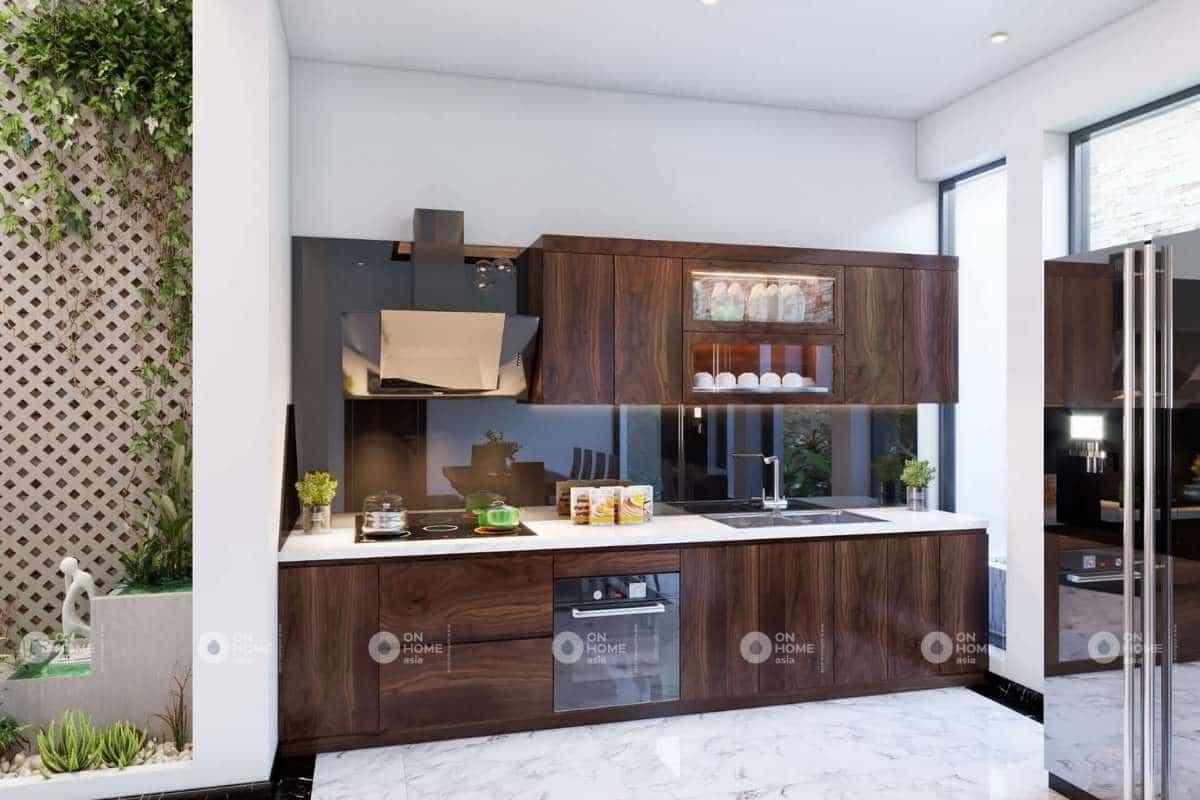 Nội thất phòng bếp nhà phố 120m2