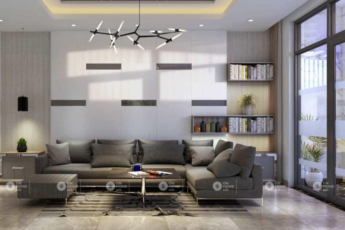 Sofa phòng khách nhà phố 120m2