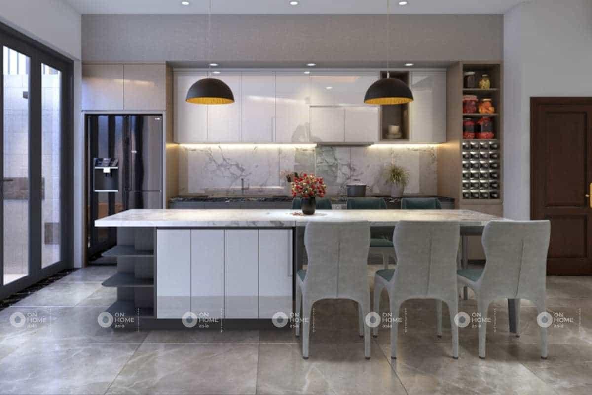 Nội thất phòng bếp hiện đại và thanh lịch