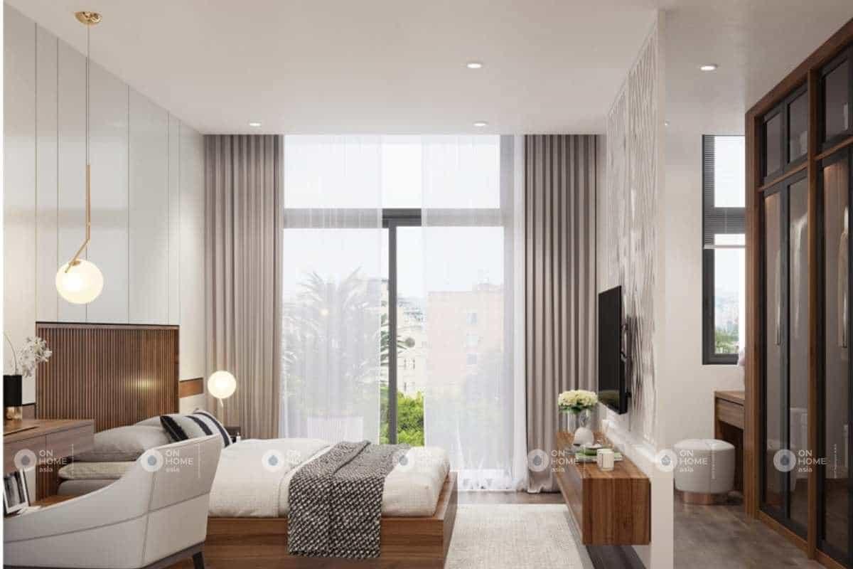 Phòng ngủ tiện nghi với đầy đủ nội thất
