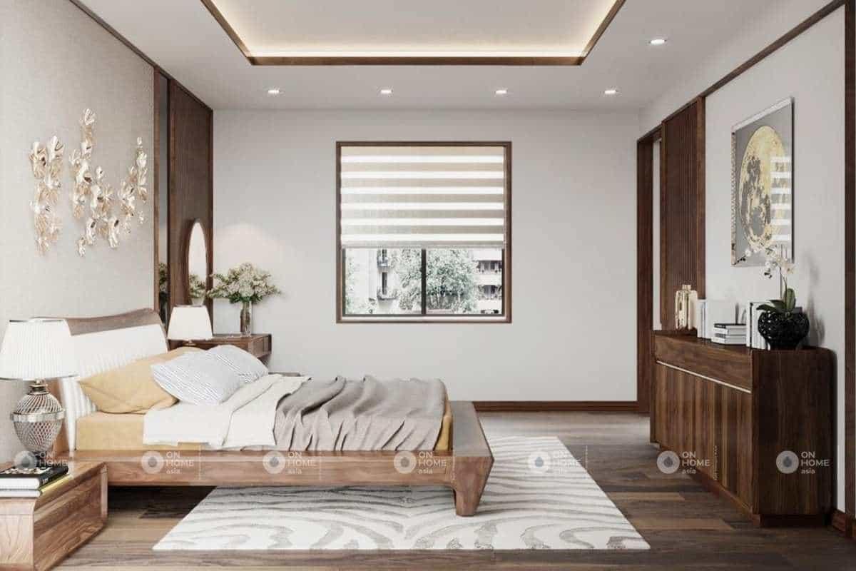 noi-that-nha-pho-120m2-voi-go-oc-cho (1)Nội thất phòng ngủ nhà phố 120m2 đẹp và sang trọng