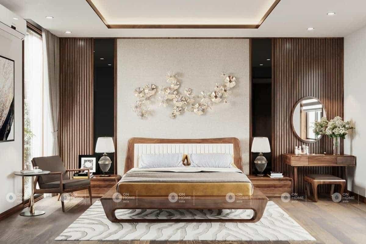 Nội thất phòng ngủ nhà phố 120m2 đẹp và sang trọng