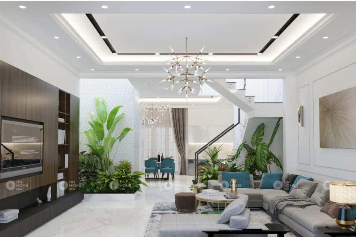 Thiết kế nội thất nhà phố tân cổ điển cuốn hút