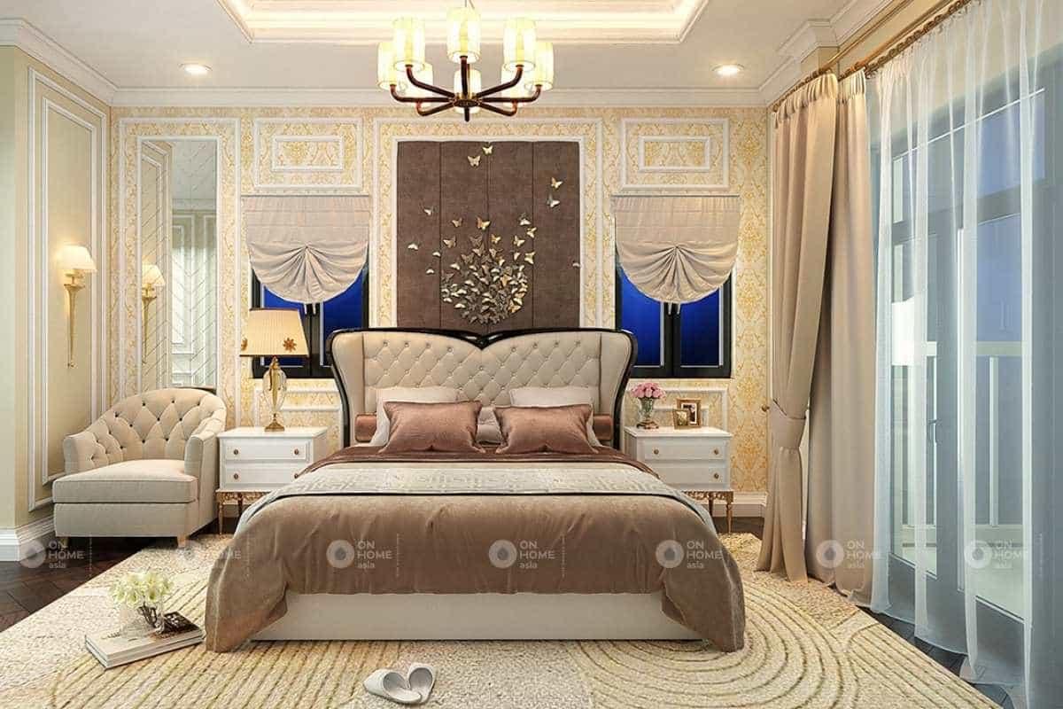 Thiết kế phòng ngủ master tân cổ điển sang trọng