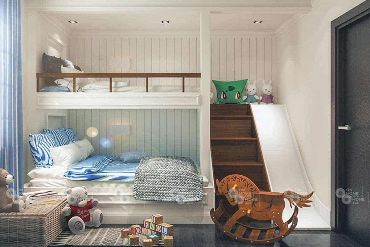 Thiết kế phòng ngủ trẻ em nhà phố tân cổ điển