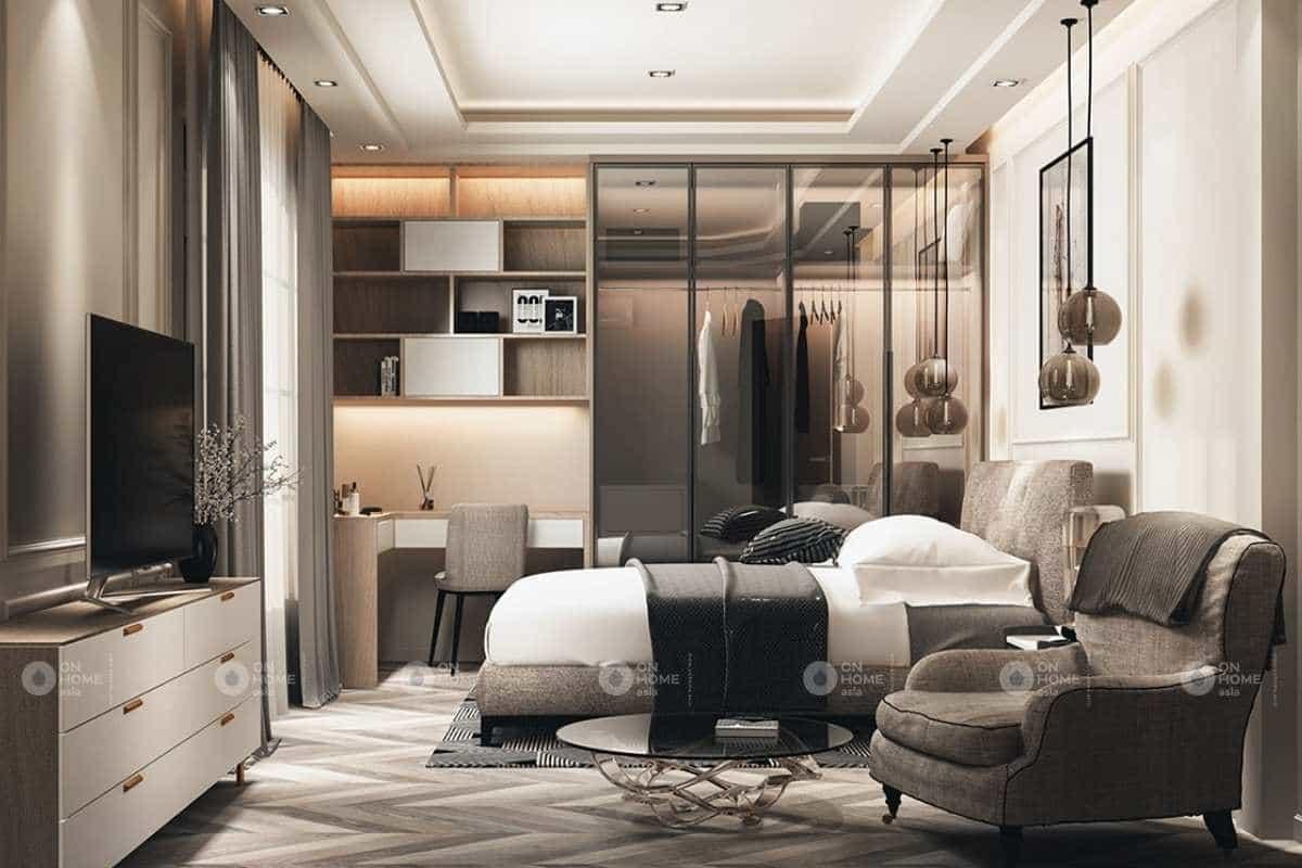 Thiết kế phòng ngủ nhà phố tân cổ điển đầy cá tính