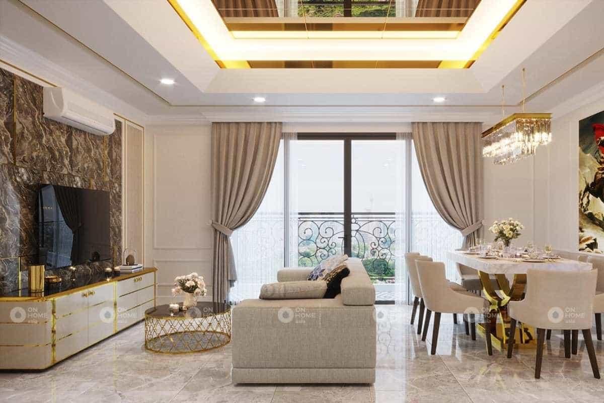 Thiết kế nội thất nhà phố tân cổ điển thanh lịch