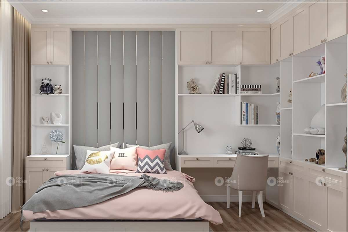 Phòng ngủ nội thất nhà phố tân cổ điển