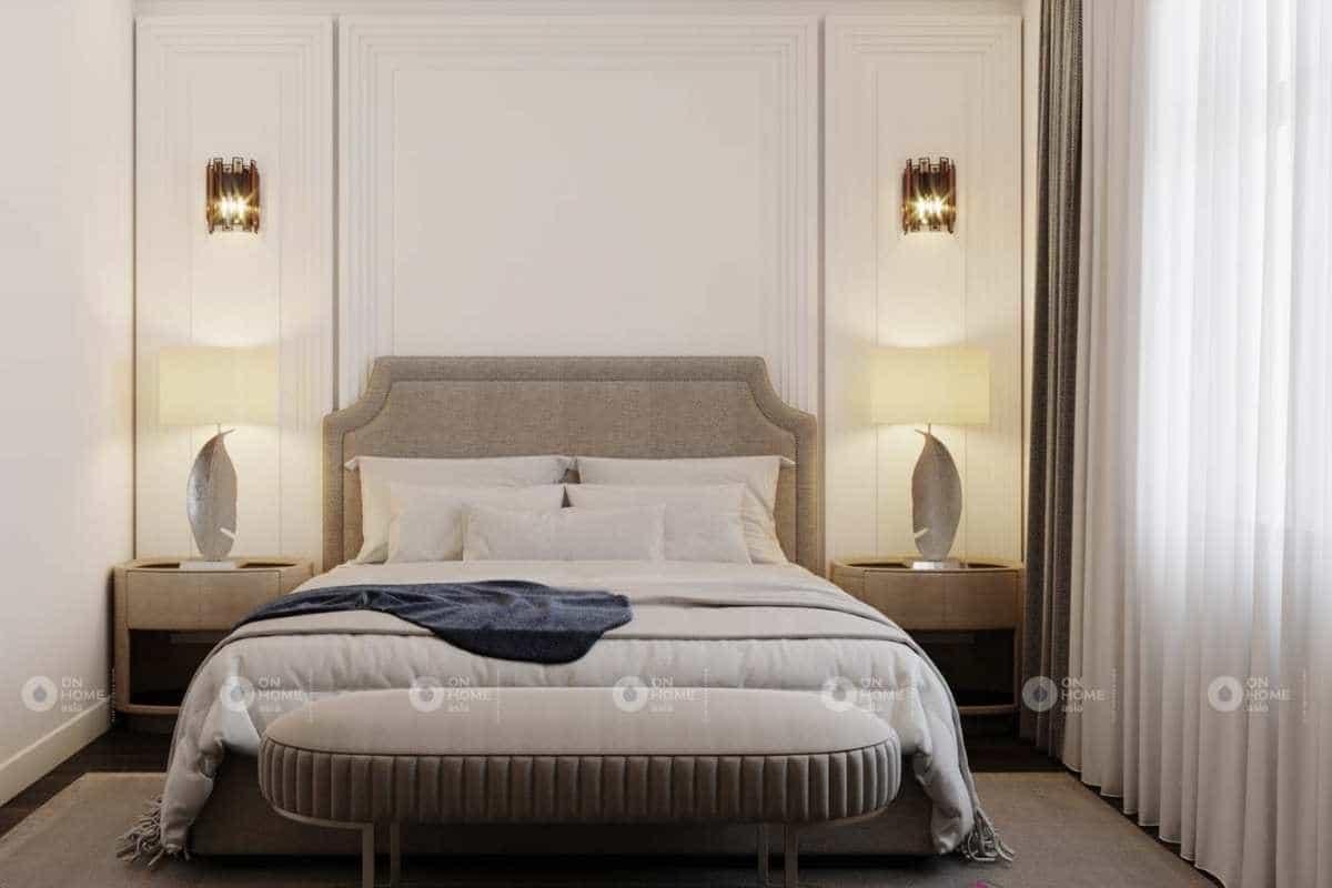 Nội thất phòng ngủ nhà phố tân cổ điển đẹp và cuốn hút