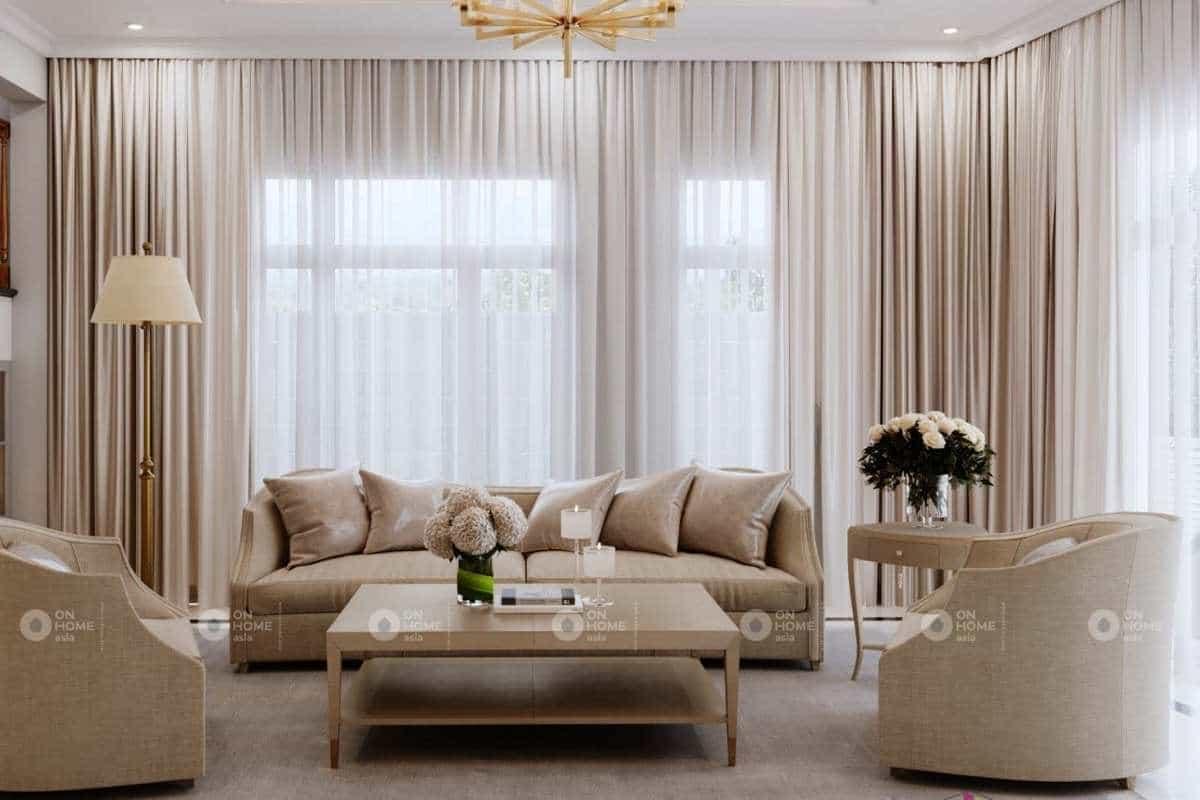 Thiết kế nội thất tân cổ điển thanh lịch sang trọng