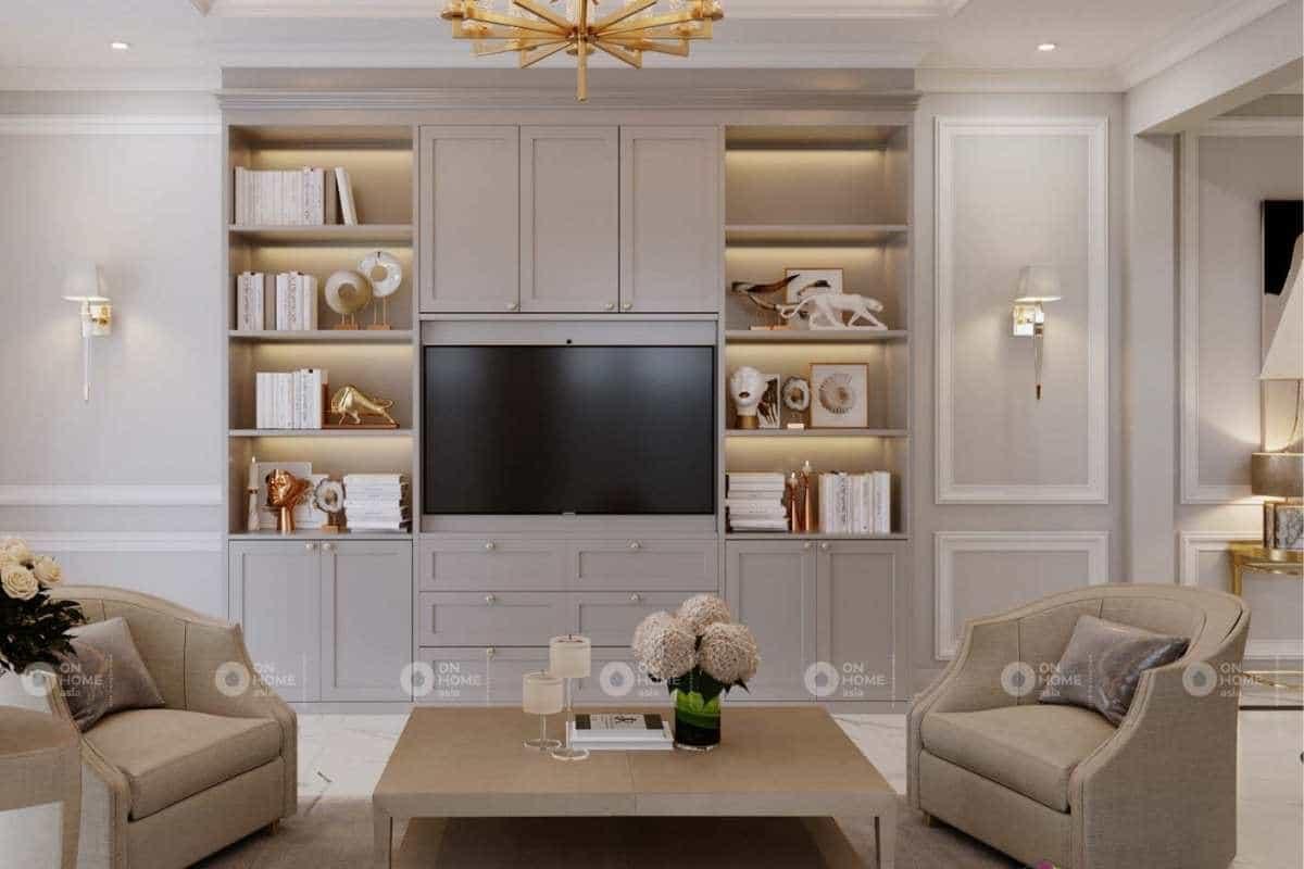 Thiết kế nội thất nhà phố tân cổ điển sang trọng