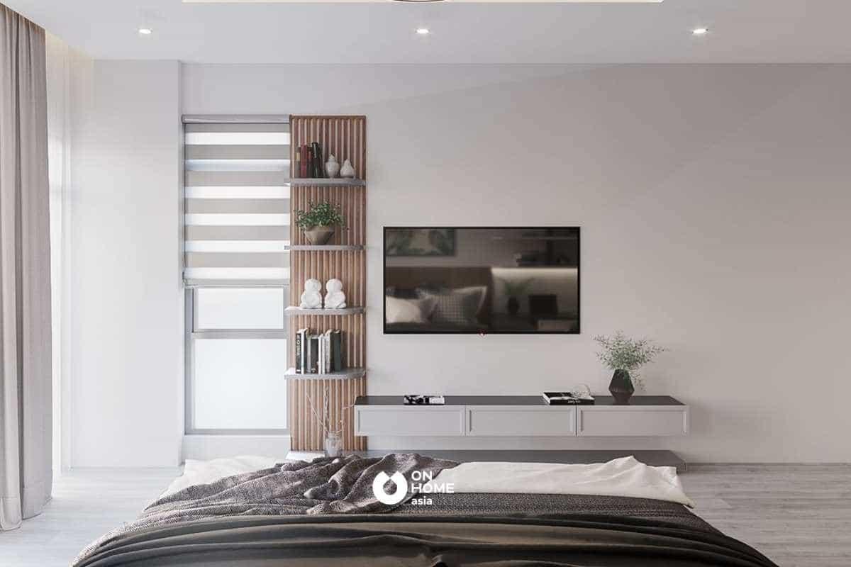 phòng ngủ được thiết kế đầy tinh tế