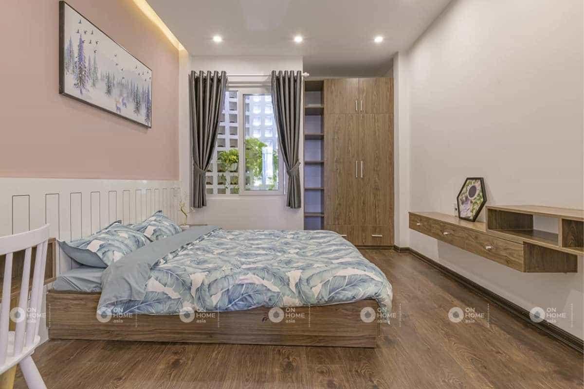 Nội thất phòng ngủ thứ 2 của mẫu thiết kế nội thất nhà phố 50m2