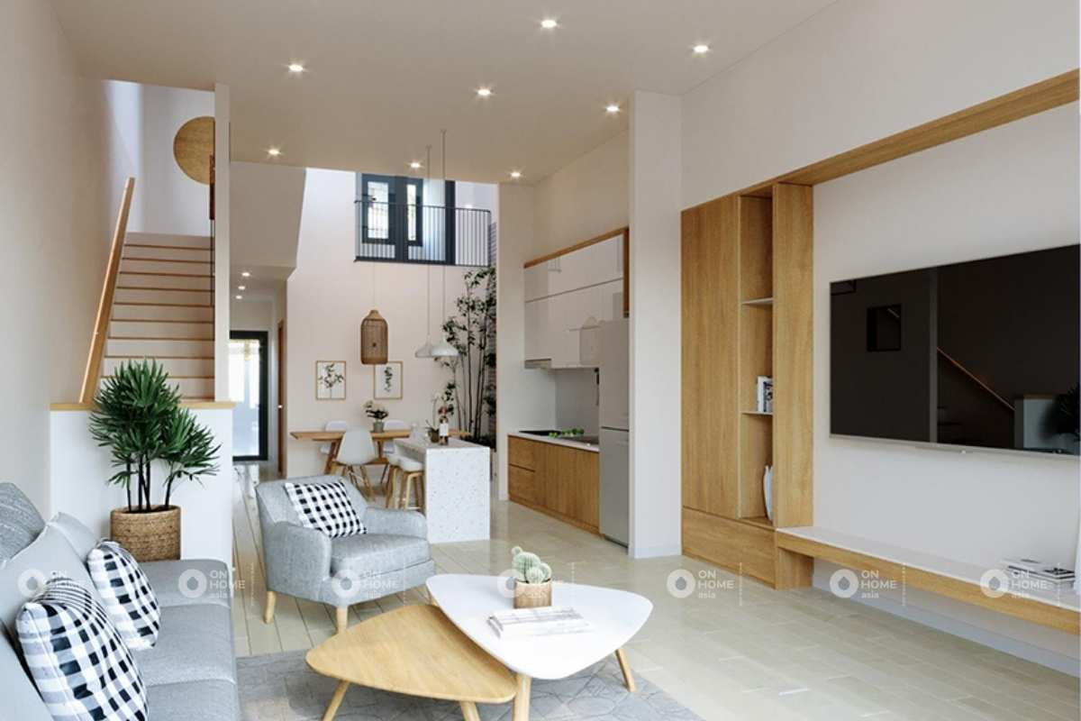 Thiết kế nội thất nhà phố 50m2 tràn ngập ánh sáng tự nhiên