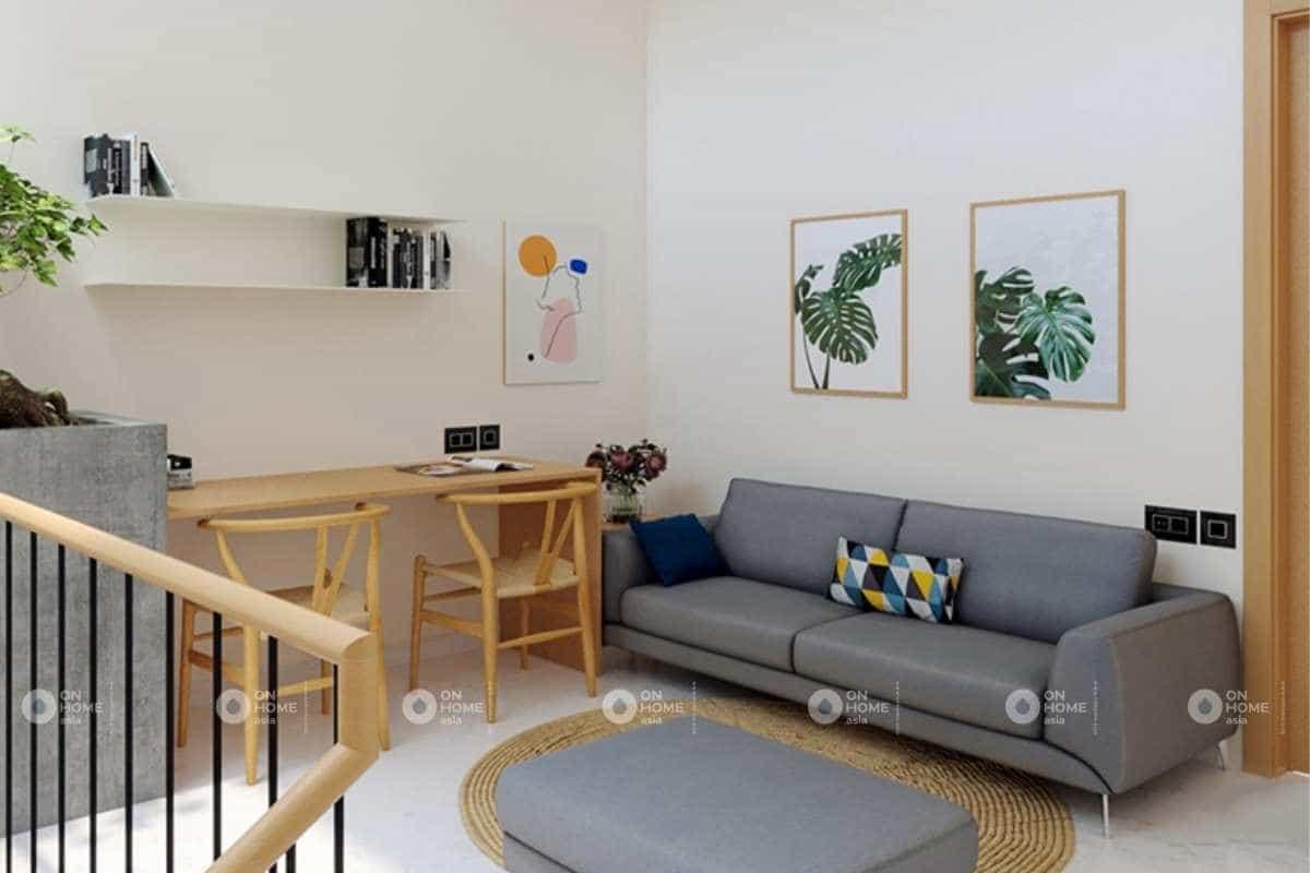 Không gian làm việc riêng tư trong thiết kế nội thất nhà phố 50m2