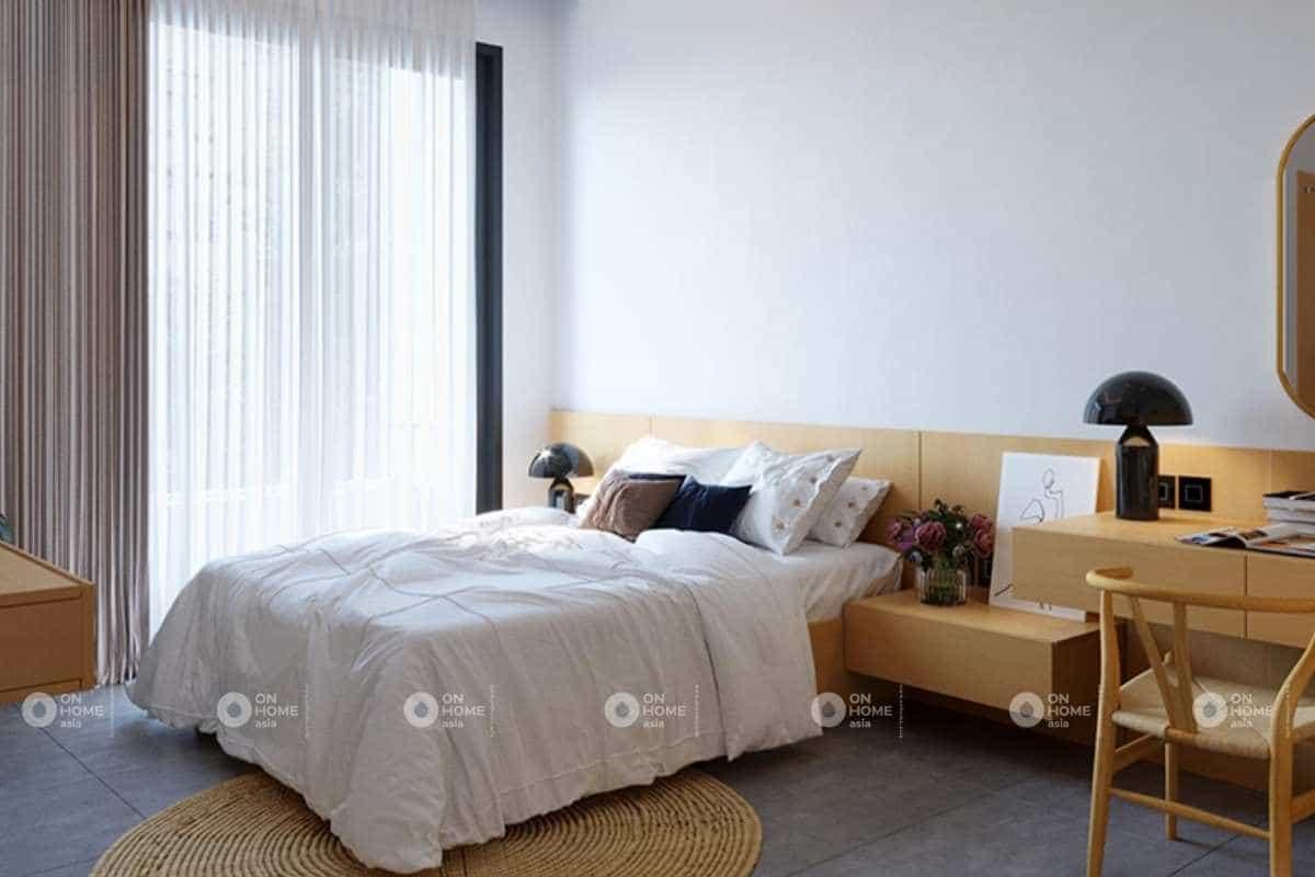 Thiết kế nội thất nhà phố 50m2 với phòng ngủ đẹp