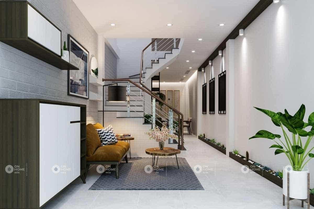 Thiết kế nội thất nhà phố 50m2 với phòng khách đẹp