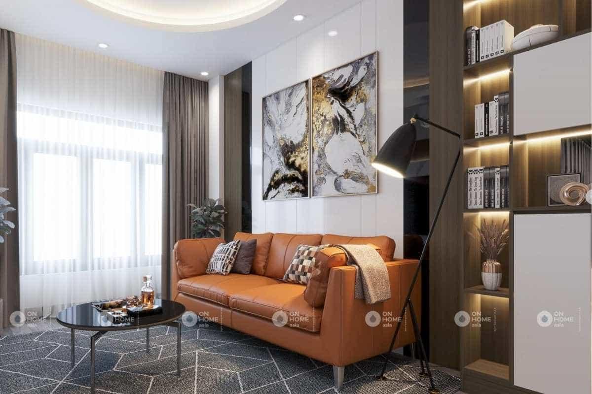 Thiết kế nội thất phòng tiếp khách nhà phố 50m2