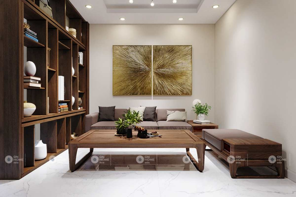Thiết kế nội thất phòng khách tầng 2