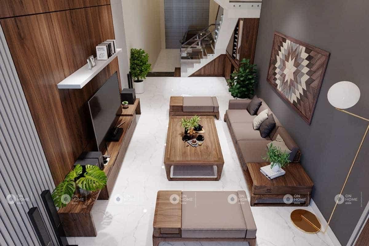 thiết kế nội thất nhà phố 5x20m2