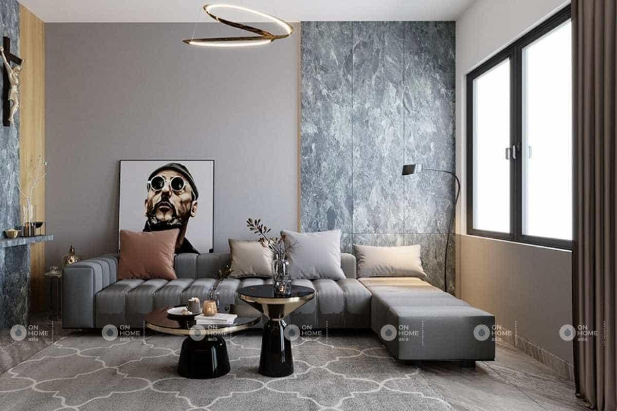 Thiết kế phòng khách nhà phố 5x20m với cái nhìn đầy nghệ thuật