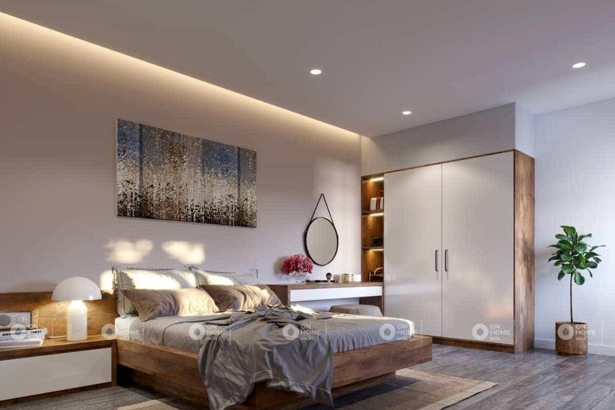 thiết kế nội thất nhà phố 5x20m phòng ngủ đẹp