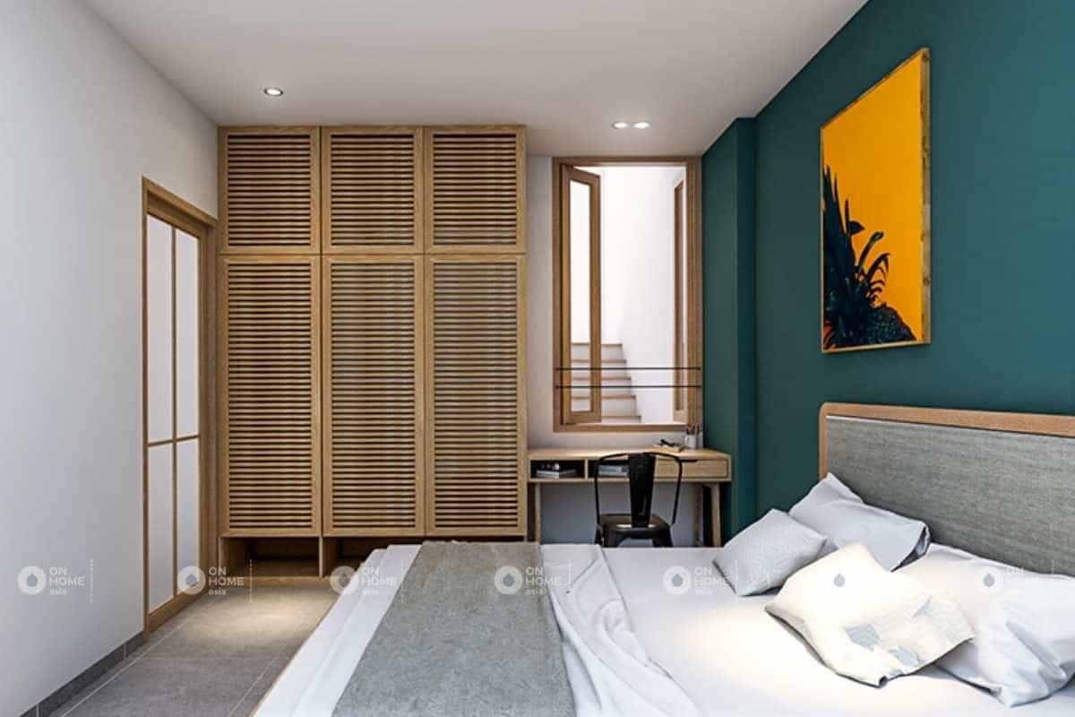 thiết kế phòng ngủ nhà phố 5x20m