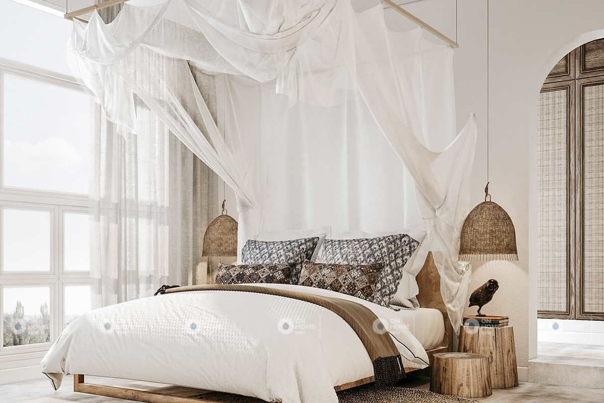 Nội thất phòng ngủ nhà phố phong cách Bắc Âu
