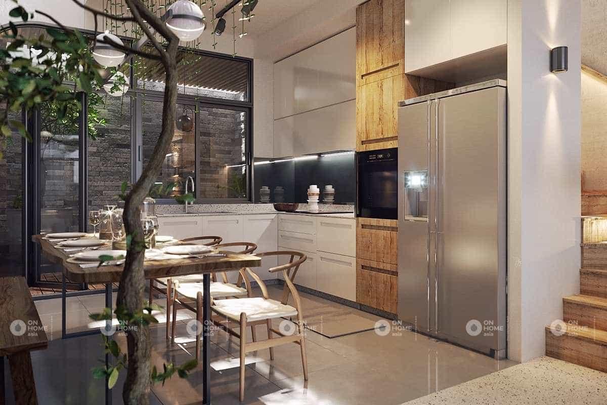 Phòng bếp nhỏ xinh và gần gũi