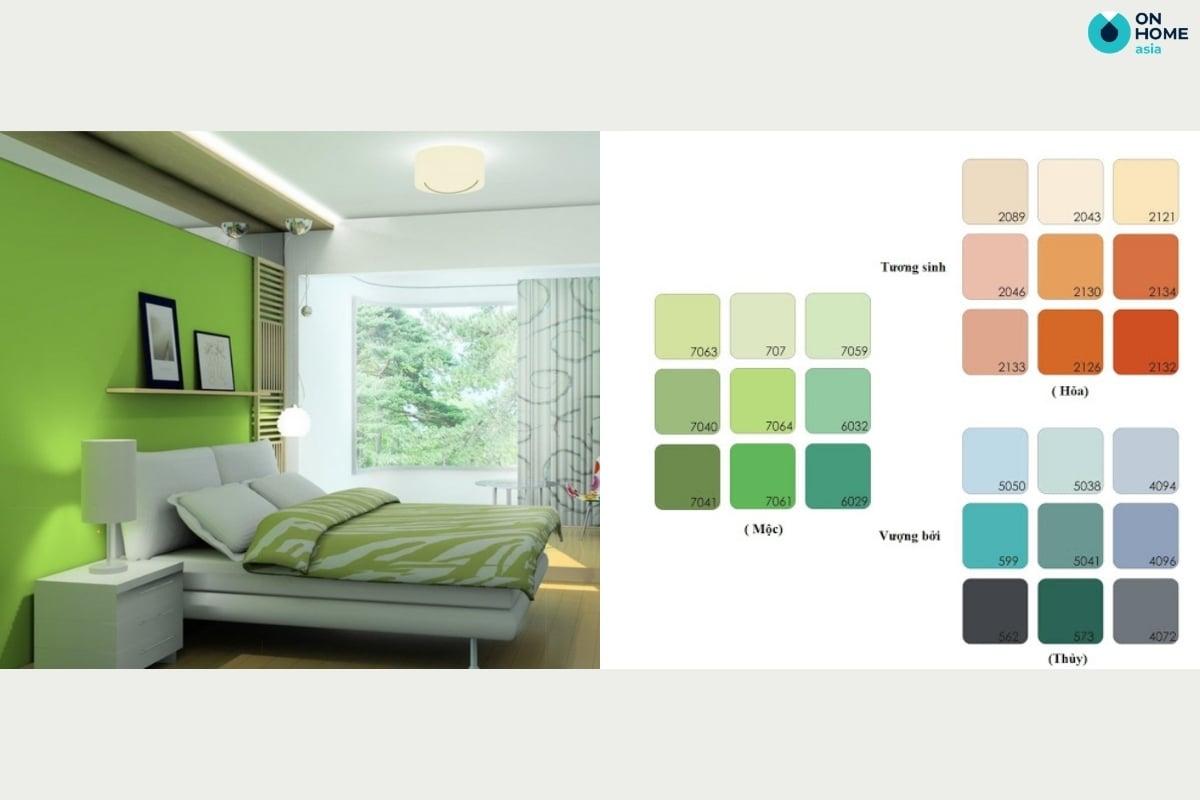 Màu sơn phòng ngủ cho gia chủ mệnh mộc