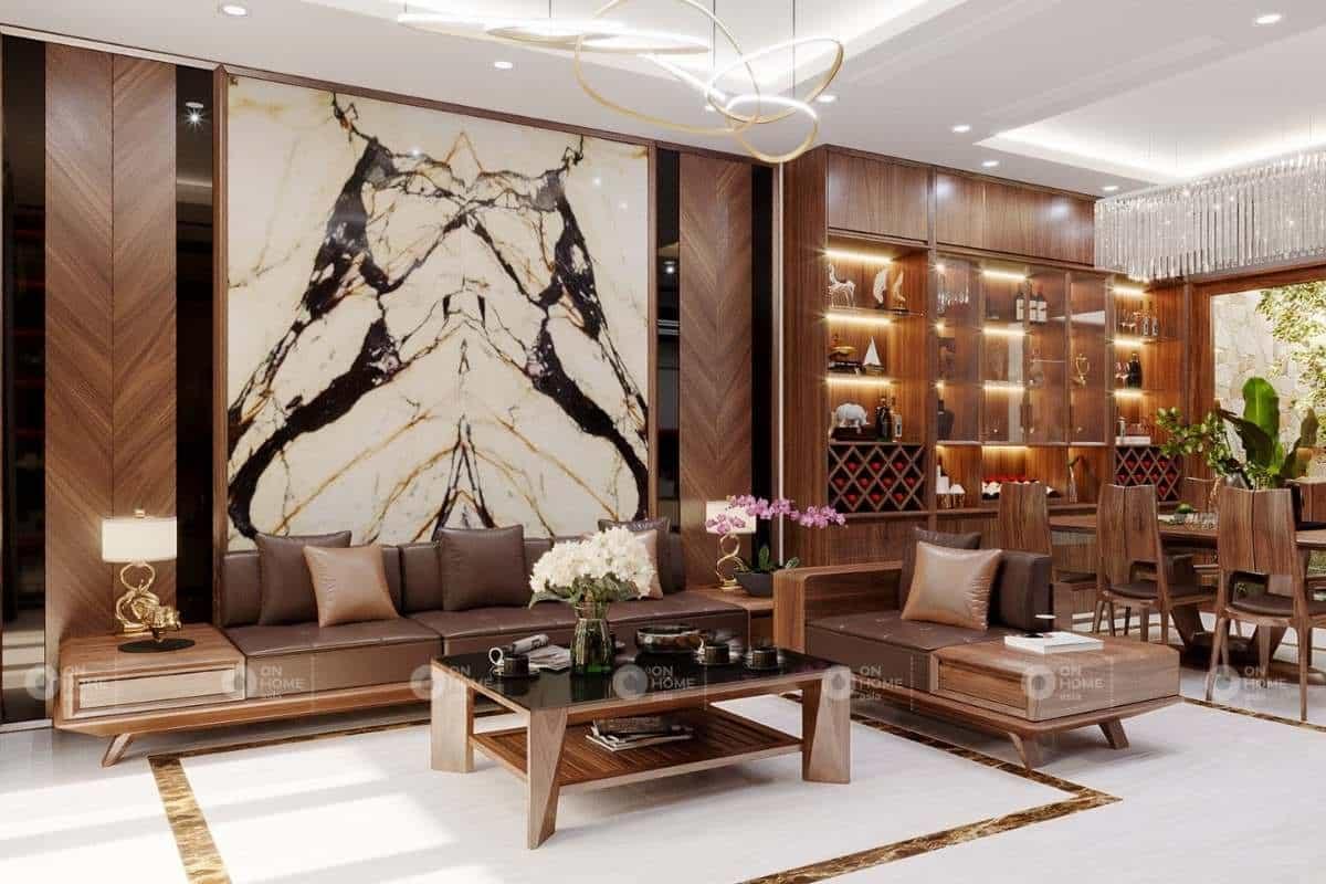 Bố trí bàn ghế gỗ hợp lý mang lại một không gian hiện đại và tinh tế