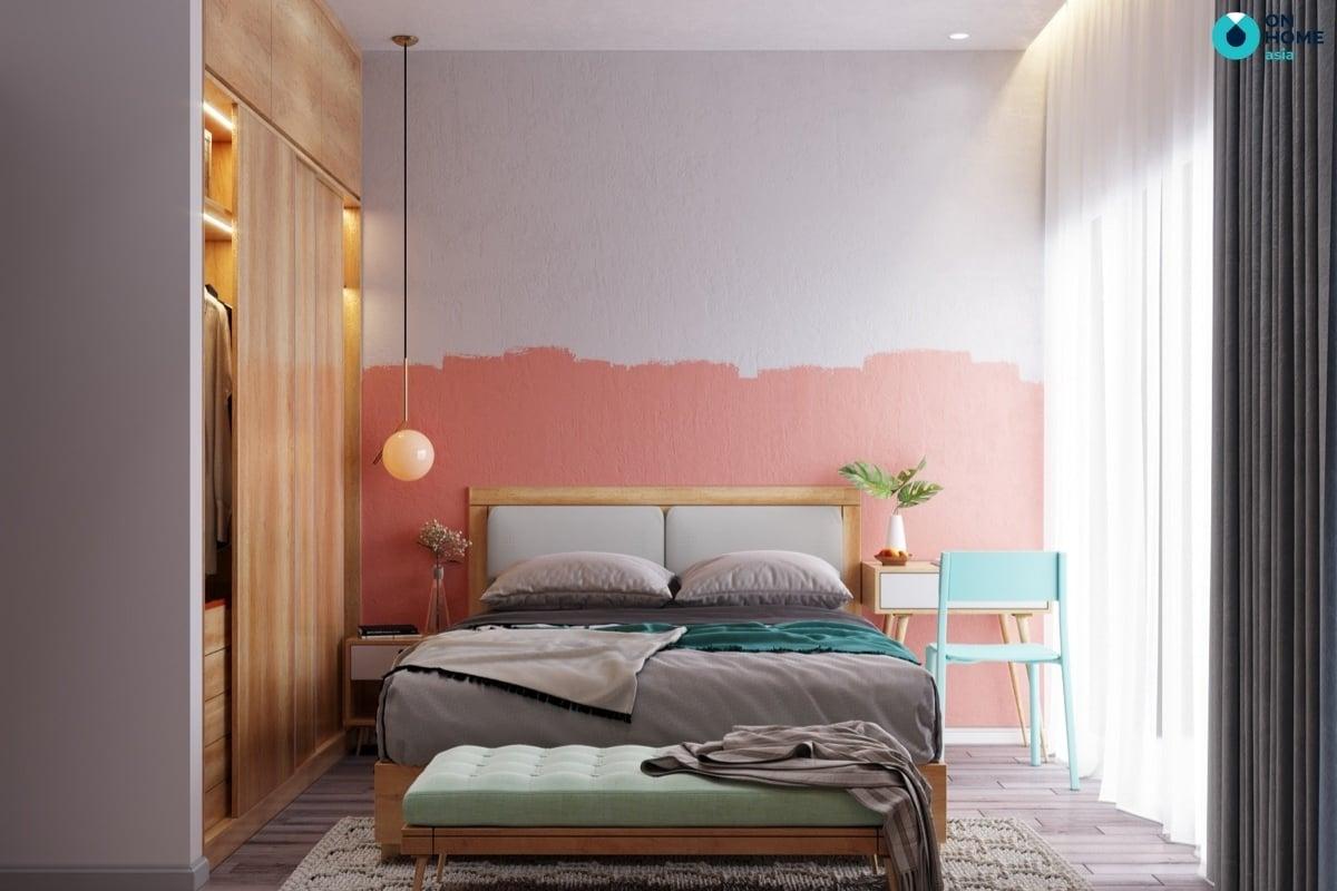 Phòng ngủ với gam màu nhẹ nhàng