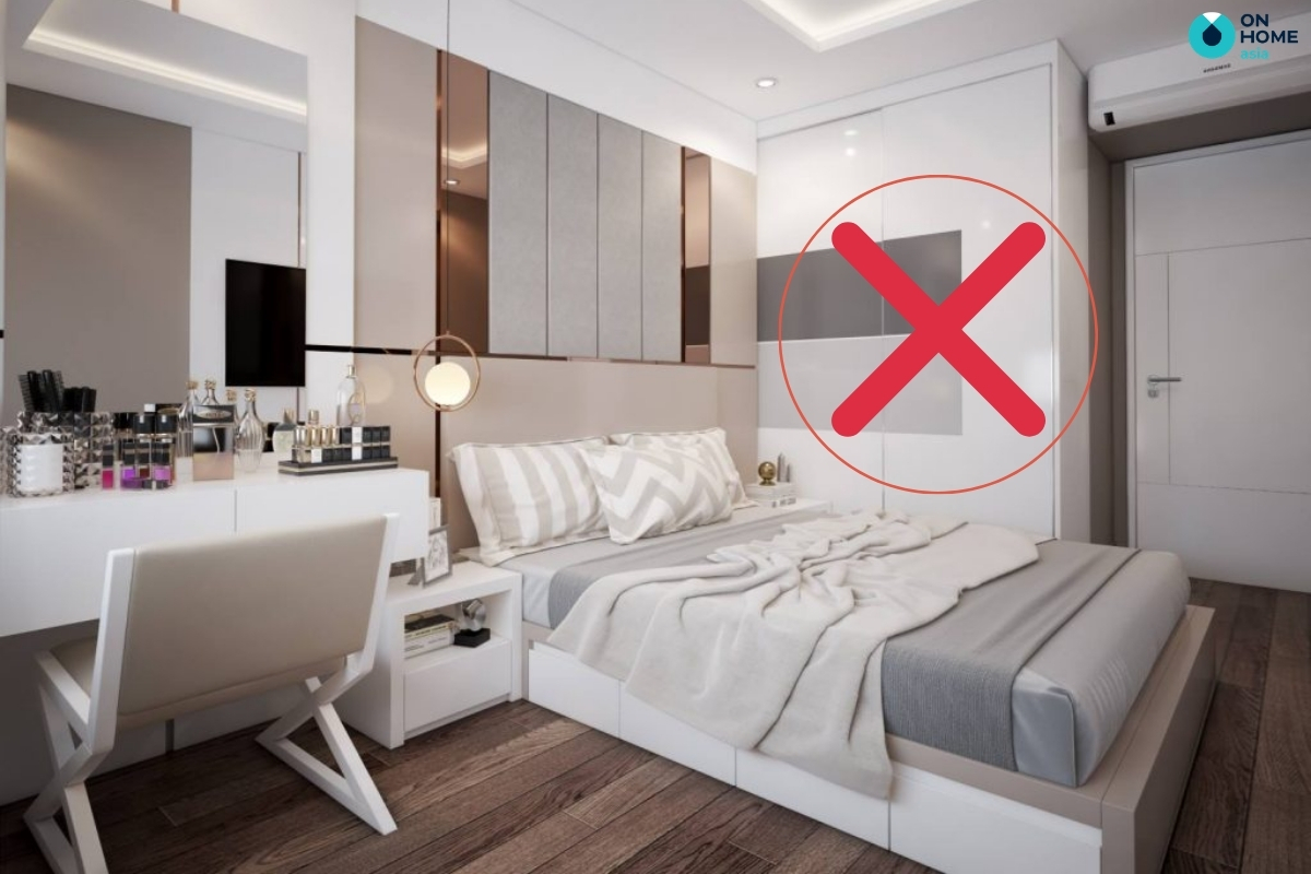 Tủ quần áo không nên đặt gần giường ngủ