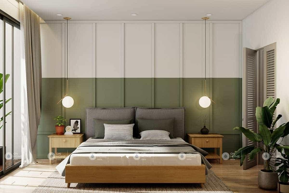 Nội thất phòng ngủ master tiện nghi