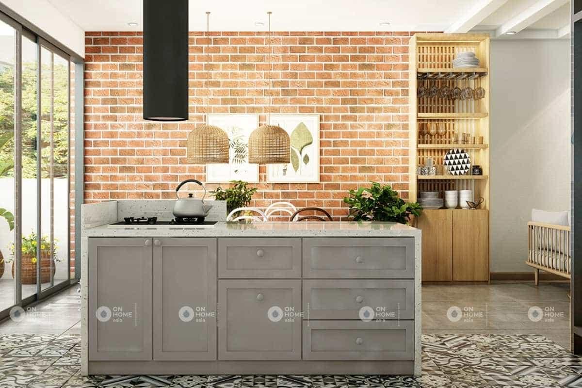 Nội thất phòng ăn đơn giản và ấm cúng
